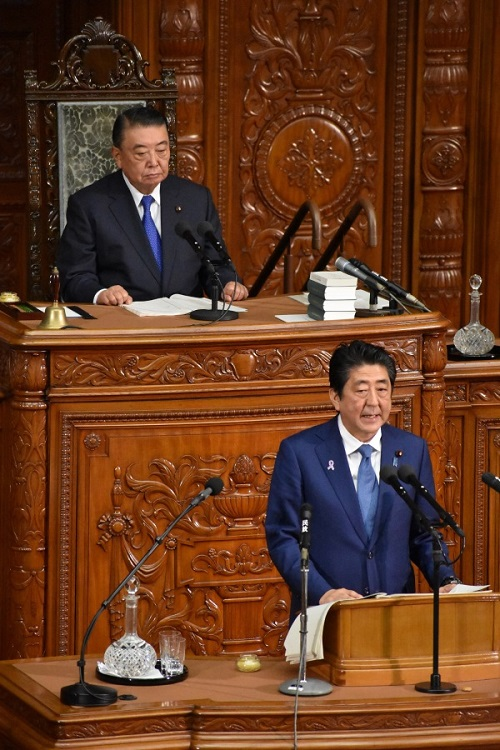Prime Minister S. Abe's address on general policy : Click on the picture to enlarge it.