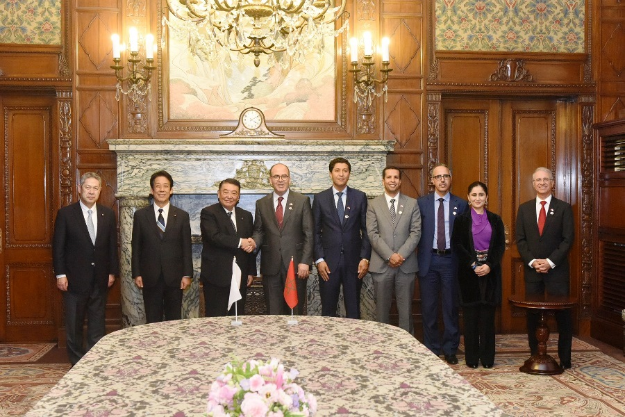 President of the Moroccan House of Councillors visits Speaker Oshima : Click on the title or picture to display topic details.