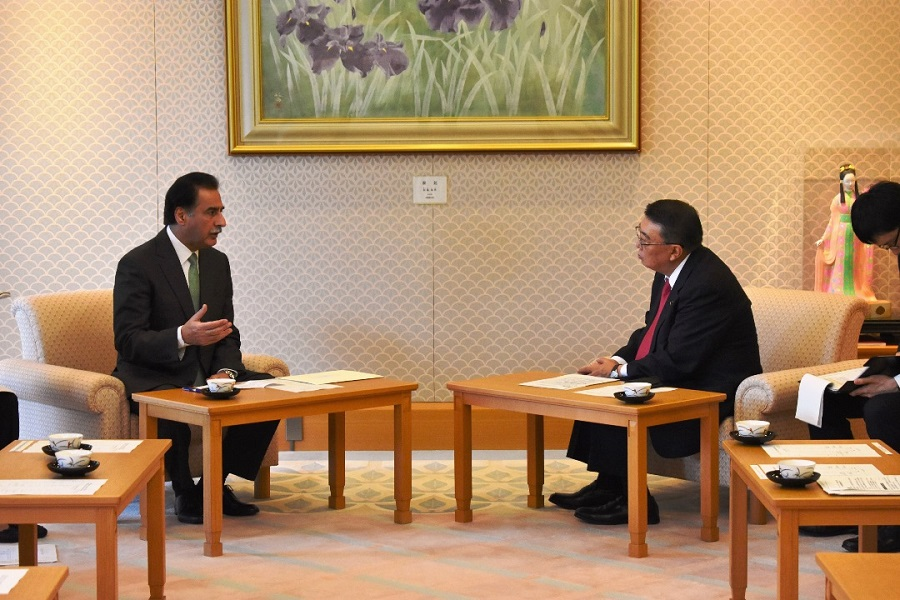 Pakistani Speaker visits Speaker Oshima : Click on the title or picture to display topic details.