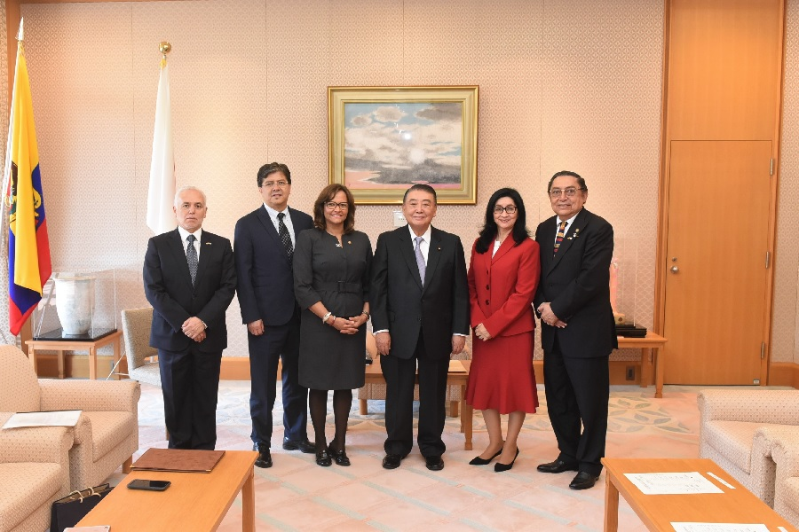 Members of the Ecuadorian National Assembly visit Speaker Oshima: Click on the title or picture to display topic details.