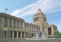国会議事堂と噴水